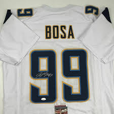 Signed Joey Bosa Jersey - LA White JSA COA