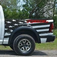 American Flag Fits Ram Rebel Side Grunge Truck Vinyl Decal Graphic Bed Pickup Ebay