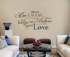 Live Laugh Love Word Collage Cloud Subway Vinyl Wall Decal Word Collage Family Room Walls Wall Art Living Room