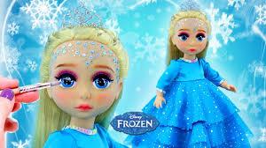 make up custom elsa princess doll