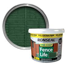 Ronseal One Coat Forest Green Matt Shed Fence Stain 12l Departments Diy At B Q