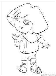 Mooie Kleurplaat Dora Met Een Rugzak Gratis Kleurplaten