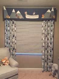 Custom Baby Boy Nursery Valance Roman Shade And Side Curtains By Treat Your Windows Susie Dettmer Kids Room Curtains Baby Room Curtains Boys Room Curtains