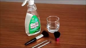 makeup brushes using white vinegar