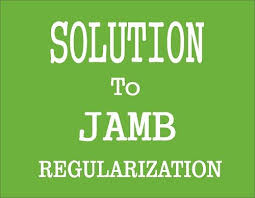 JAMB Regularization Procedure ;how to do it without help