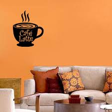 Cafe Latte Italian Wall Art Decal Coffee Cup Wall Decal Home Decor Removable Pvc Waterproof Wall Stickers Living Room Italian Home Decor Olivia Decor Decor For Your Home And Office