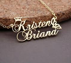 name necklace personalized gold