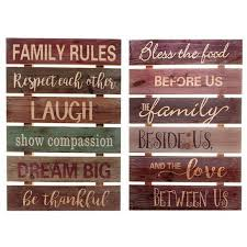 Family Rules Wall Art Maison Concepts Inc