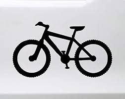 Amazon Com Mountain Bike Vinyl Decal Biking Mtb Atb Bicycle Xc Downhill Cyclocross Cx Die Cut Sticker Automotive