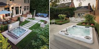 hot tub swim spa landscaping ideas