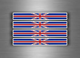 4x Sticker Decal Car Stripe England Flag Bike Moto British United Kingdom Uk Ebay