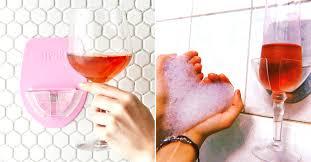thanks to sipski s shower wine glass holder