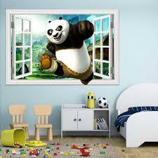 3d Window View Wall Sticker Cartoon Dinosaur Panda Shark Decals Wall Nursery Wall Art Home Poster Stickers For Baby Room 3d Wall Stickers Wall Stickerstickers For Aliexpress