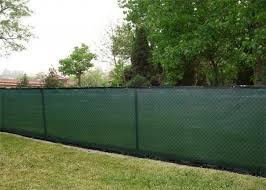 Black Chain Link Privacy Fence Netting Aluminum Grommets Wind Breaker Screen