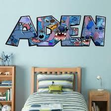 Lilo Stitch Personalized Name Decal Wall Sticker Custom Art Mural Disney Wp206 Ebay