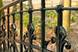 Black Metal Fence Stock Photos Royalty Free Black Metal Fence Images Depositphotos