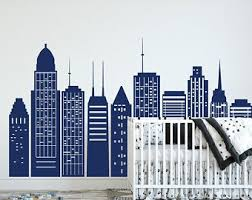 Cityscape Wall Decal Etsy
