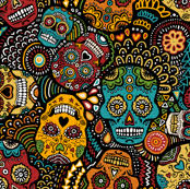 sugar skull wallpaper for home