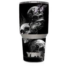 Yeti 30oz Sticker Decal Set For Your 30 Oz Tumbler Glowing Skulls In Smoke Walmart Com Walmart Com