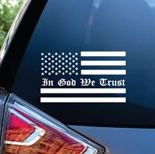 In God We Trust American Flag Window Decal Sticker Custom Sticker Shop