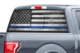 Ford Raptor Rear Window Decals Thin Blue Line Racerx Customs Truck Graphics Grilles And Accessories