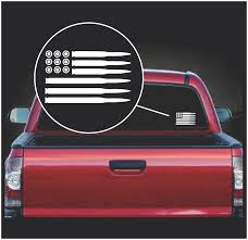 American Flag Bullets Truck Decal Midwest Sticker Shop