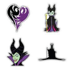 Maleficent Cartoon Set Of 4 Vinyl Sticker Decal 5 Longer Side Id 1 Ebay