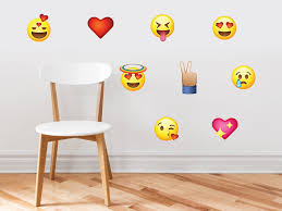 Removable Set Of 9 Phone Text Faces Wall Stickers Graphic Decal Kids Game Room Decor Art Reusable Non Toxic Emoji Emoticon Fabric Wall Decals Respositionable Sunny Decals Sg B06xtk9wny Us Wall Decor Room Decor