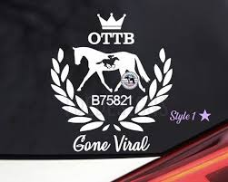 Ottb Vine Wreath Vinyl Horse Car Laptop Tumbler Decal Custom Etsy