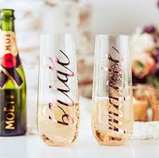 Reflective Chrome Name Decal Stemless Champagne Glass Decals Etsy Stemless Champagne Glass Wedding Party Glass Stemless Champagne Flutes