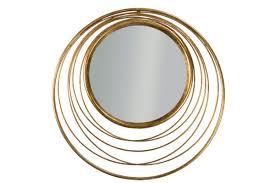 metal round mirror vintage gold home