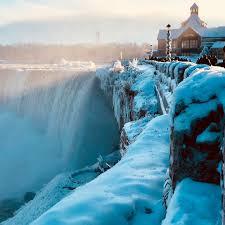 niagara falls was a frozen