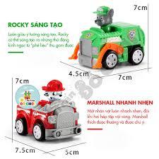 Bộ đồ chơi mô hình nhân vật chó cứu hộ hoạt hình bằng nhựa cho bé ...