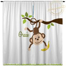 Baby Room Decor Monkey Decorations Window Curtains 405 Eloquent Innovations
