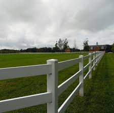 Classic White Vinyl Horse Fencing From Weatherables Vinyl Fence Cost Fence Installation Cost Pasture Fencing