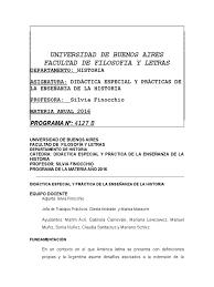 Didáctica Especial - Finocchio | Maestros | Historiografía