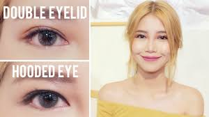 hooded eye to double eyelid l glue vs