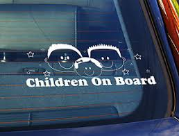 Static Cling Window Car Sign Decal Sticker Children On Board 2 Boys Baby Girl Ebay