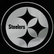Pittsburgh Steelers Silver Window Logo Decal Sticker