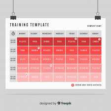 gym or fitness schedule template free
