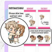 Paula Cuddling Couple Planner Stickers You Plan You
