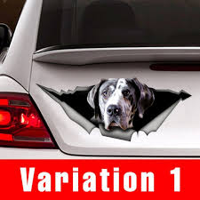 Great Dane Car Decal Pet Decal Vinyl Decal Great Dane Etsy