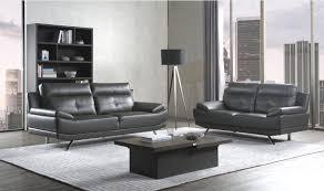 islington leather sofa suite black grey