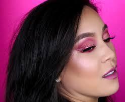hot pink cut crease eyeshadow tutorial