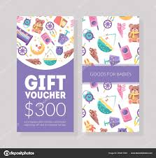 baby goods gift voucher template kids