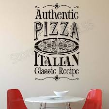 Pizza Kitchen Wall Decal Quotes Authentic Pizza Italian Classic Recipe Wall Stickers Interior Pizza Pattern Design Decal Zw380 Wall Stickers Aliexpress