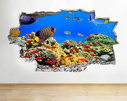 Wandtattoos Wandbilder A271 Jelly Fish Aquarium Ocean Sea Coral Wall Decal Poster 3d Art Stickers Vinyl Fiscleconsultancy Com