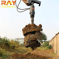 China Fence Post Hole Digger Pile Foundation Drilling Rock Auger Drill Mounted On Excavator China Earth Auger Earth Drill