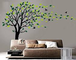 Large Tree Blowing In The Wind Tree Wall Decals Wall Sticker Vinyl Art Kids Room For Sale Online