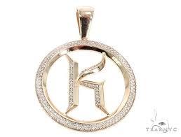 g diamond initial letter k pendant